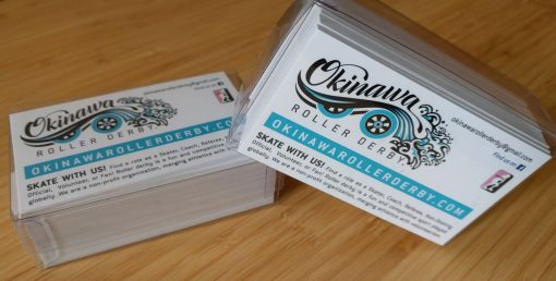 Okinawa Roller Derby Business Cards